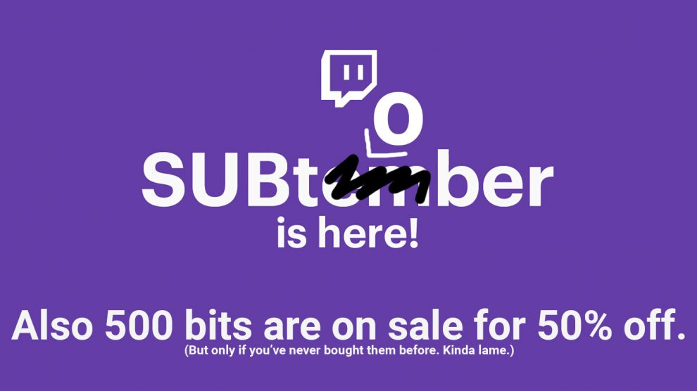 Subtember Subtober and Bits Discount