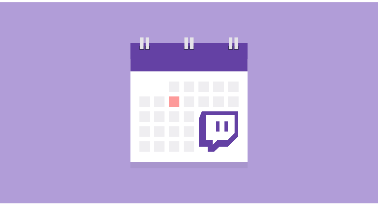 Twitch Events Calendar