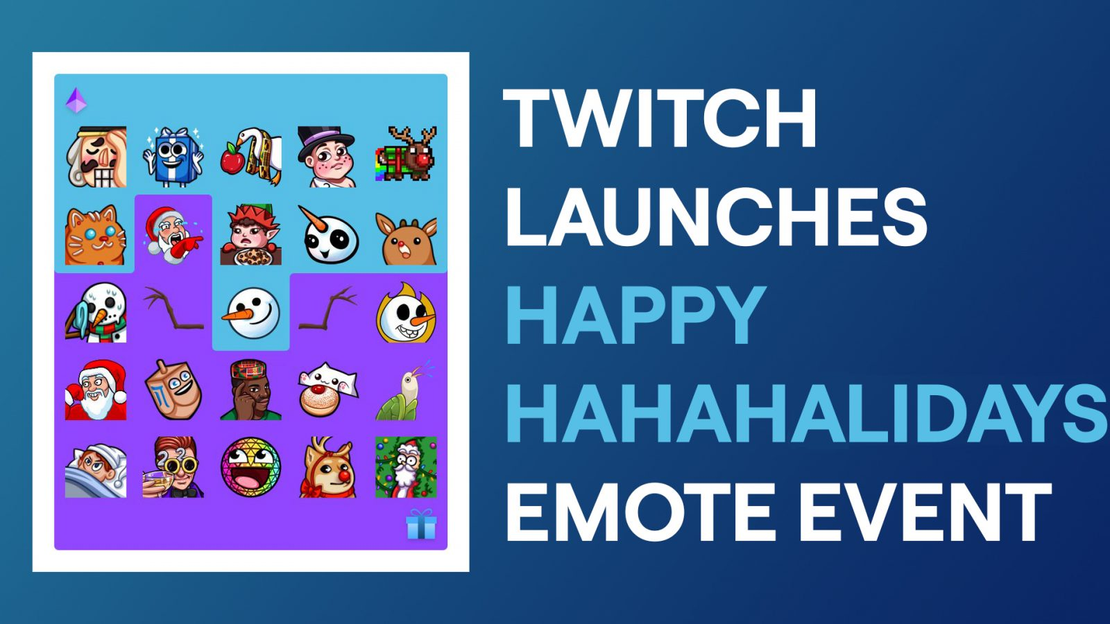 """Twitch Launches Holiday Emote Event """"HAHAHAlidays"""""""