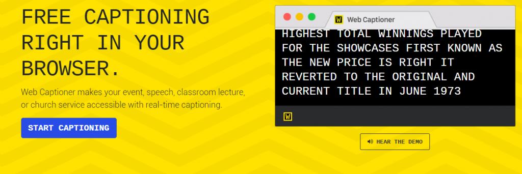 Webcaptioneer Screenshot
